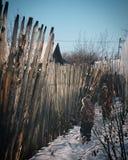 Koślawy ogrodzenie fotografia royalty free
