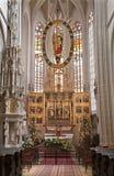 Košice - die geschnitzte Hauptleitung wings Altar gotischer Kathedrale HeiligesElizabeth Stockfotografie