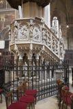Košice - Neo gothic ambona od Świątobliwej Elizabeth gothic katedry Obrazy Royalty Free