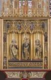 Košice - skrzydeł Świątobliwa Elizabeth gothic katedra ołtarz obrazy stock