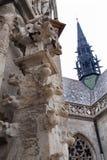 Košice - szczegół od gothic fasady Świątobliwa Elizabeth gothic katedra Obraz Stock