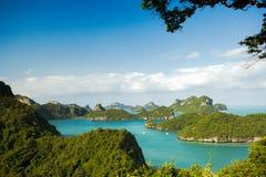 Ko在Mu Ko AngThong海洋国家公园观点, Sa的Wua Talab 免版税图库摄影