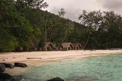 Ko海岛的美丽的景色他在泰国在黎明和黄昏小时内 库存图片