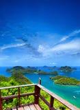 Ko αρχιπέλαγος πάρκων Samui angthong εθνικό θαλάσσιο στην Ταϊλάνδη Στοκ φωτογραφία με δικαίωμα ελεύθερης χρήσης