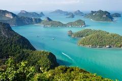 Ko angthong marine park. Panoramic view of ko angthkong tropical marine park in Thailand Stock Image