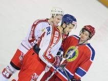 końcówka gry hokeja lodu dopasowanie Zdjęcia Stock