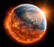 Końcówka planety ziemi 3D renderingu elementy ten wizerunku furn Zdjęcie Royalty Free