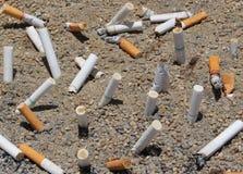 Końcówka w ashtray Zdjęcie Royalty Free