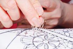 kości projekta koronki tkanina Zdjęcia Royalty Free