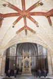 Ko?ci?? San Juan De Ortega monaster, Hiszpania, wn?trze zdjęcia stock