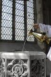 kościelna chrzcielnica Obrazy Royalty Free