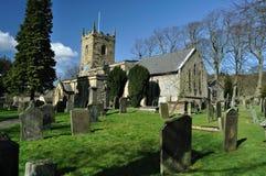 kościelna eyam cmentarza wioska Zdjęcia Royalty Free