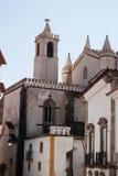 Kościelna fasada w Evora Zdjęcia Stock