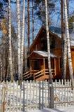 kościelna lasowa zima Zdjęcie Stock