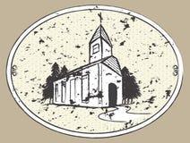 kościelna rysunkowa ilustracja Obrazy Stock