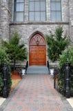 kościelni drzwi dziejowi Obrazy Royalty Free