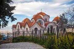 Kościelny Agia Marina na wzgórzu Nymphis w Ateny, Grecja Fotografia Stock
