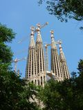 kościelny Barcelona familia Sagrada Spain Zdjęcia Stock