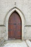 kościelny drzwiowy drewniany Zdjęcie Royalty Free