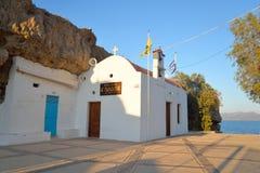 Kościelny Ekklisia Agia Paraskevi Obraz Royalty Free