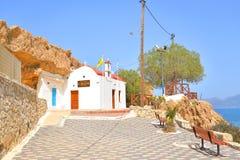 Kościelny Ekklisia Agia Paraskevi Zdjęcia Royalty Free