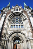 kościelny Elizabeth Lviv olha st zdjęcia stock