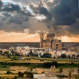 kościelny gozo Malta xewkija Zdjęcia Royalty Free
