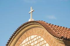 kościelny Greece grecki ia wysp santorini typowy Obraz Royalty Free