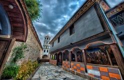 Kościelny jard w starym grodzkim Plovdiv zdjęcie stock