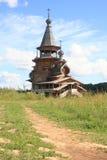 kościelny ortodoksyjny rosyjski drewniany zdjęcie stock