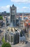 Kościelny San Nicolas Ghent Obrazy Royalty Free