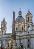 Kościelny Sant'Agnese w Agone, Rzym Zdjęcie Stock