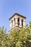 Kościelny wierza w Alhama De Aragon Zdjęcia Stock