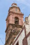 Kościelny wierza w Realu De Catorce Meksyk Obrazy Stock