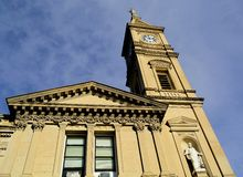 Kościelny zegarowy wierza Fotografia Stock