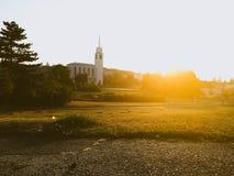 kościelny zmierzch zdjęcie stock
