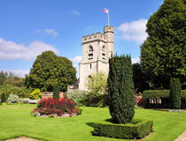 kościelnych anglików basztowa wioska Fotografia Stock