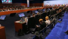 Końcowa sesja 23rd OSCE ministerialny rada Obrazy Stock