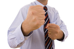 KO do homem de negócios Imagens de Stock Royalty Free