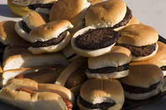 kołek hamburgera Zdjęcia Royalty Free