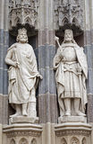 Košice -  Kings from north portal of Saint Elizabeth cathedral Royalty Free Stock Images