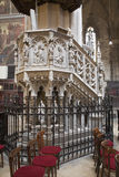 Košice -  Neo gothic pulpit from Saint Elizabeth gothic cathedral Royalty Free Stock Images