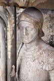 Košice - staty av riddaren från västra portal av den Sanktt Elizabeth domkyrkan Fotografering för Bildbyråer