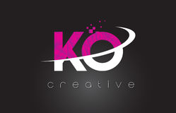 KO K O Creative Letters Design With White Pink Colors Stock Photography