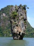 Ko Khao Phing Kan kvalitetsö james thailand Arkivfoto