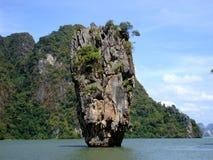 Ko Khao Phing Kan kvalitetsö james thailand Arkivbild