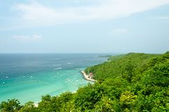 Ko lan island in thailand. View point at Koh Lan Island Phattaya Thailand Royalty Free Stock Photo