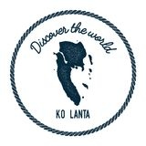 Ko Lanta map in vintage discover the world. Stock Photography