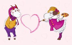 Koźli barani valentine Fotografia Stock