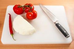 Koźli ser z warzywami 02 Obrazy Stock